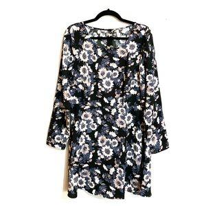 Free People | Long Sleeve Floral Mini Dress SZ 12